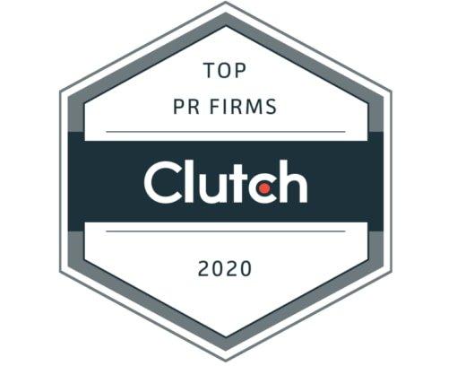Logo clutch voor het beste PR-bedrijf ter wereld en het beste mediarelatiesbureau
