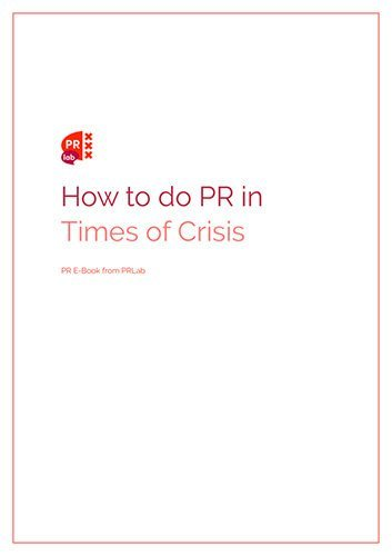 Cover of the ebook How to do PR in times of crisis