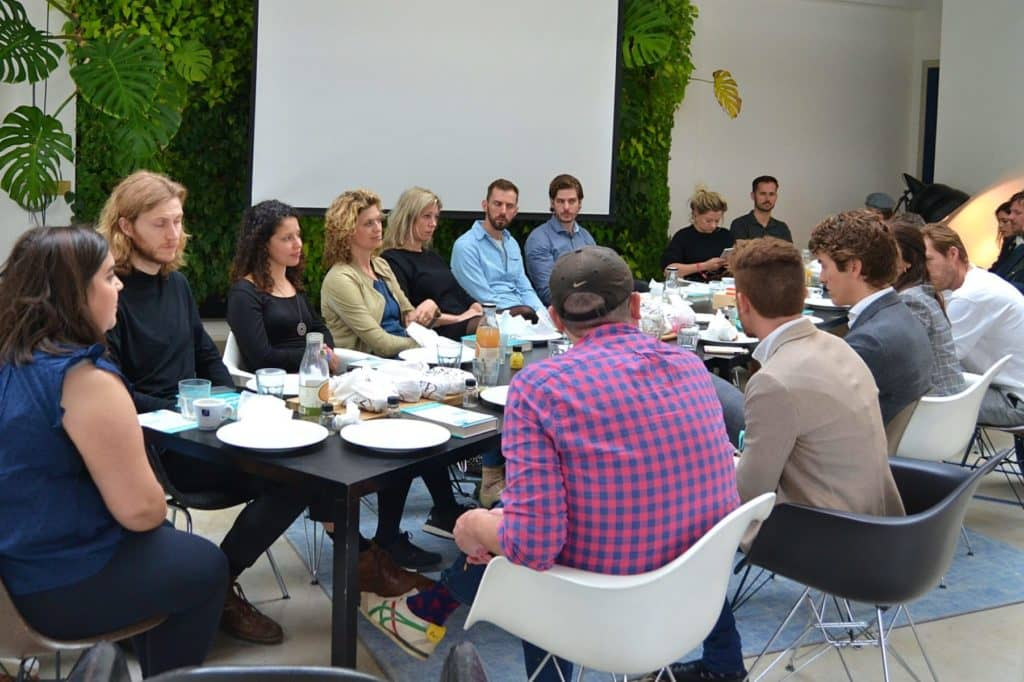 Photo of a meeting at PRLab Amsterrdam.
