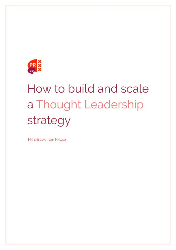 Cover of the ebook How to build and scale a thought leadership strategy