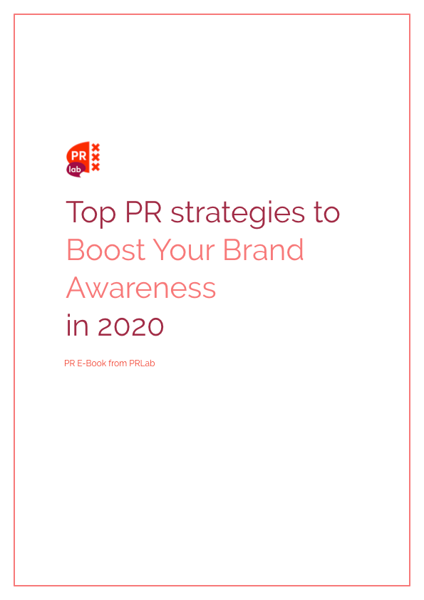 Cover of the e-book: Top PR Strategies to boost your brand awareness