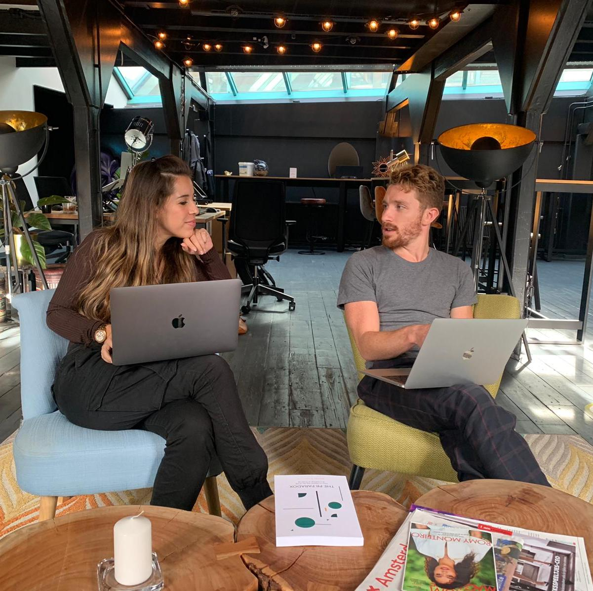 Photo of Matias Rodsevich, CEO of PRLab and Vanessa Stroet
