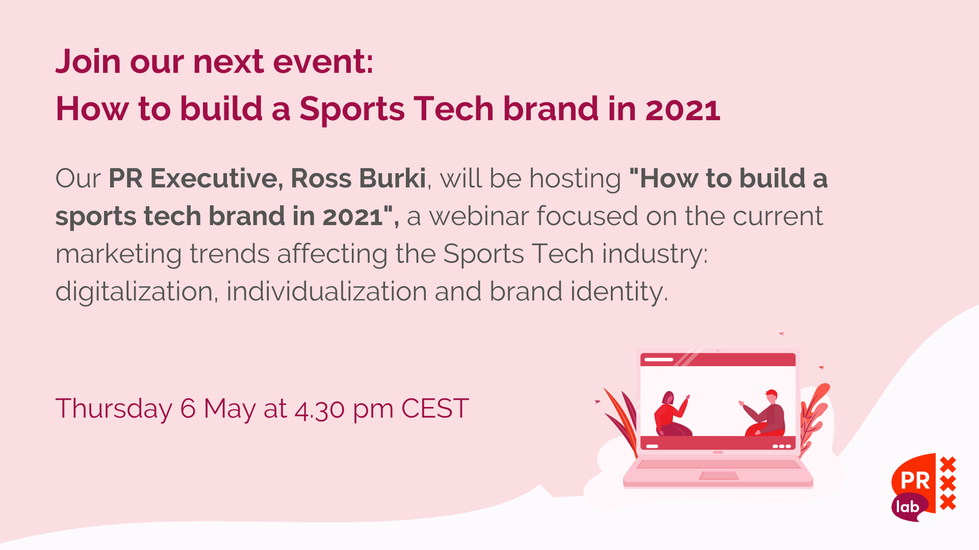 PRLab Lead Generation Event- How to build a Sports Tech brand in 2021