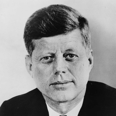 Photo of John F.Kennedy, ex-president of USA and example of a thought later