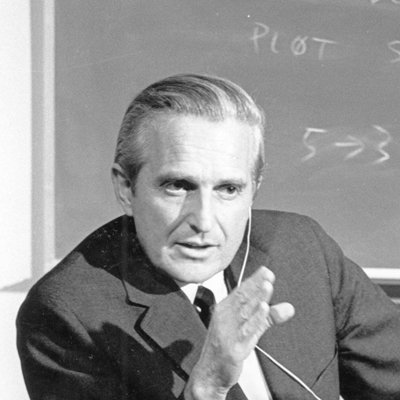 Photo of Douglas Engelbart, one of the most famous thought leaders