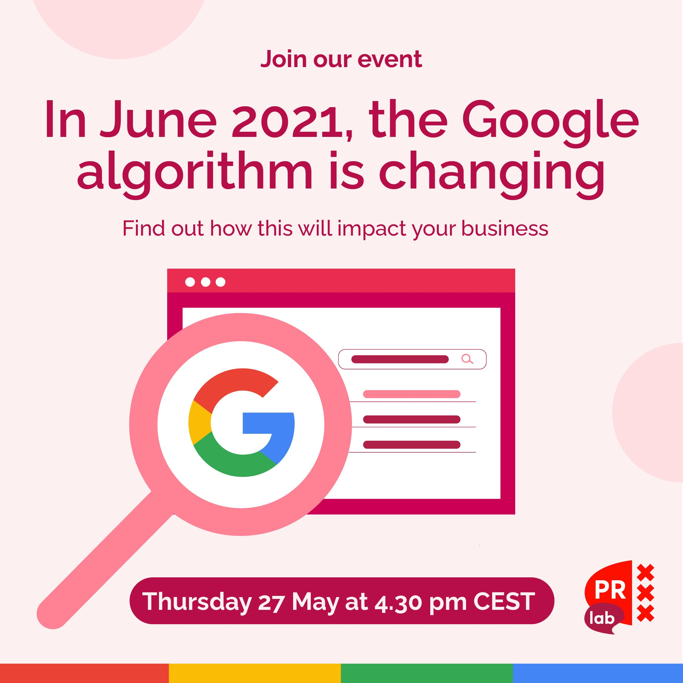 Banner for the event SEO in 2021
