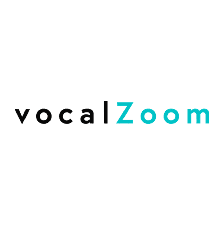 Logo of vocalZoom, client of PRLab Amsterdam