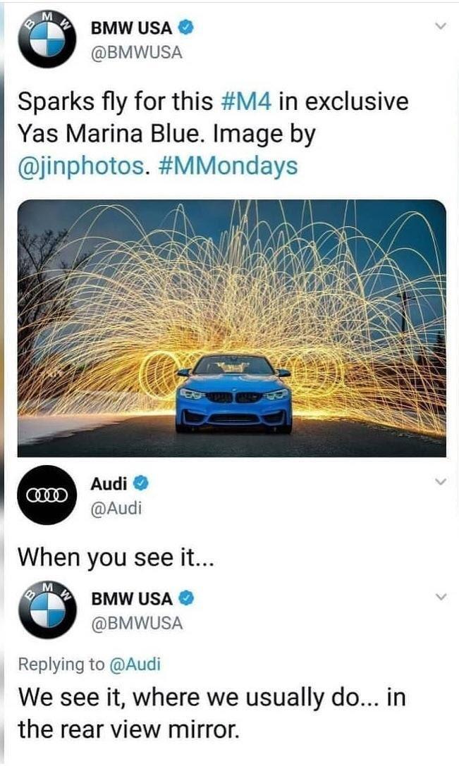 Example of good newsjacking, BMW