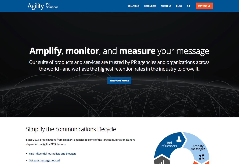 Screenshot of Agility PR, the powerful media monitoring tool