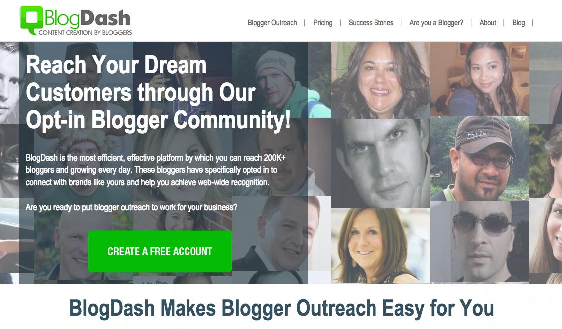 Screenshot of Blog Dash, the media monitoring tool
