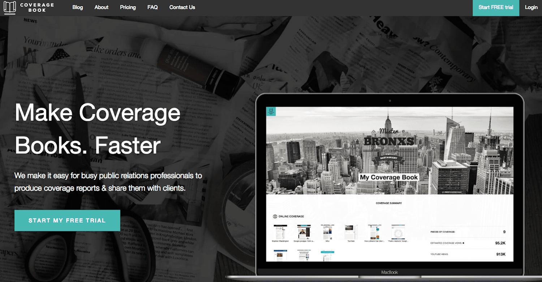 Screenshot of the PR media monitoring tool