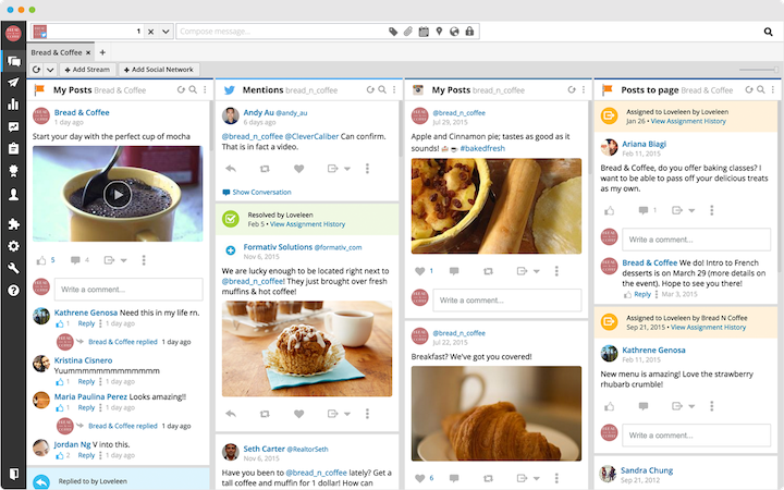 Screenshot of Hootsuit platform